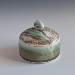 "Jewelry Jar, Porcelain, 3""x3"""