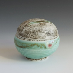 "Jewelry Jar, Porcelain, 3.5""x3"""