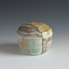 "Lidded Jar, Porcelain, 4""x3"""