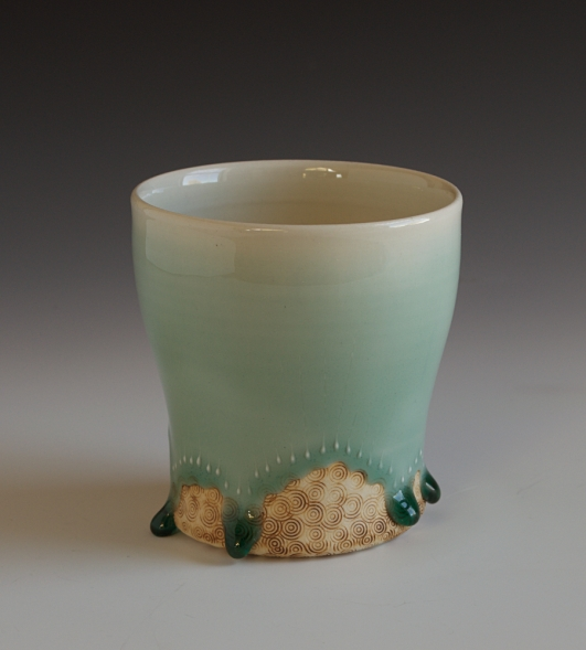 Blue Green Sunrise Cup