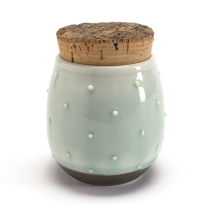 Slip Dotted Herb Jar
