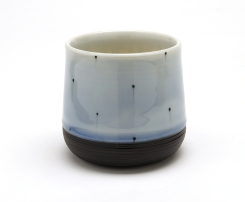 Black Dot Cup with Carved Bottom